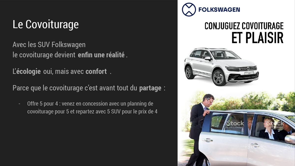 Folkswagen : Covoiturage
