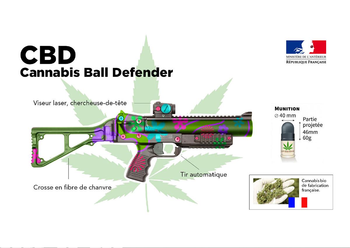 Ministère de l'Antérieur : Le Cannabis Ball Defender