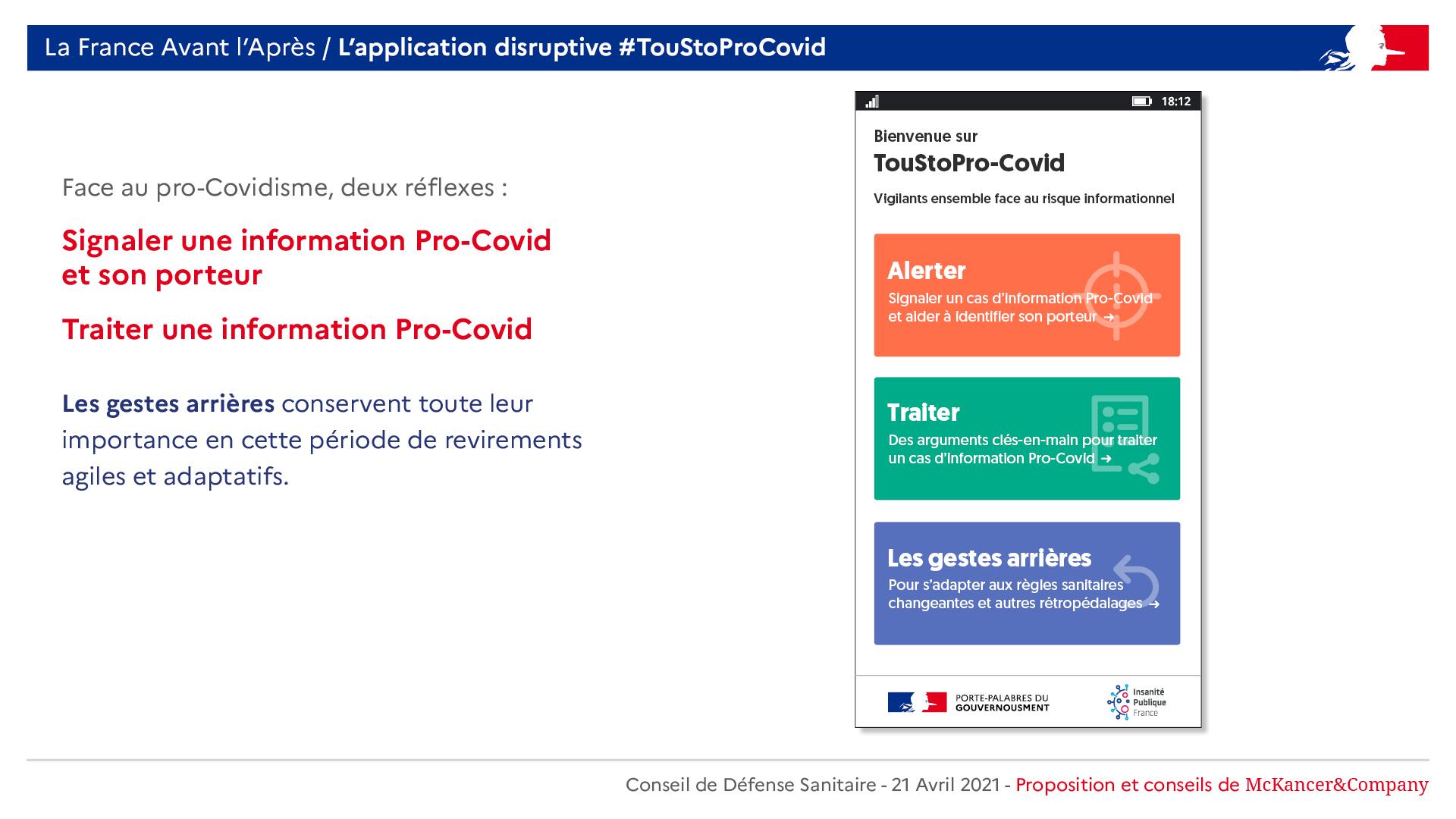 Gouvernousment - App TouStoProCovid