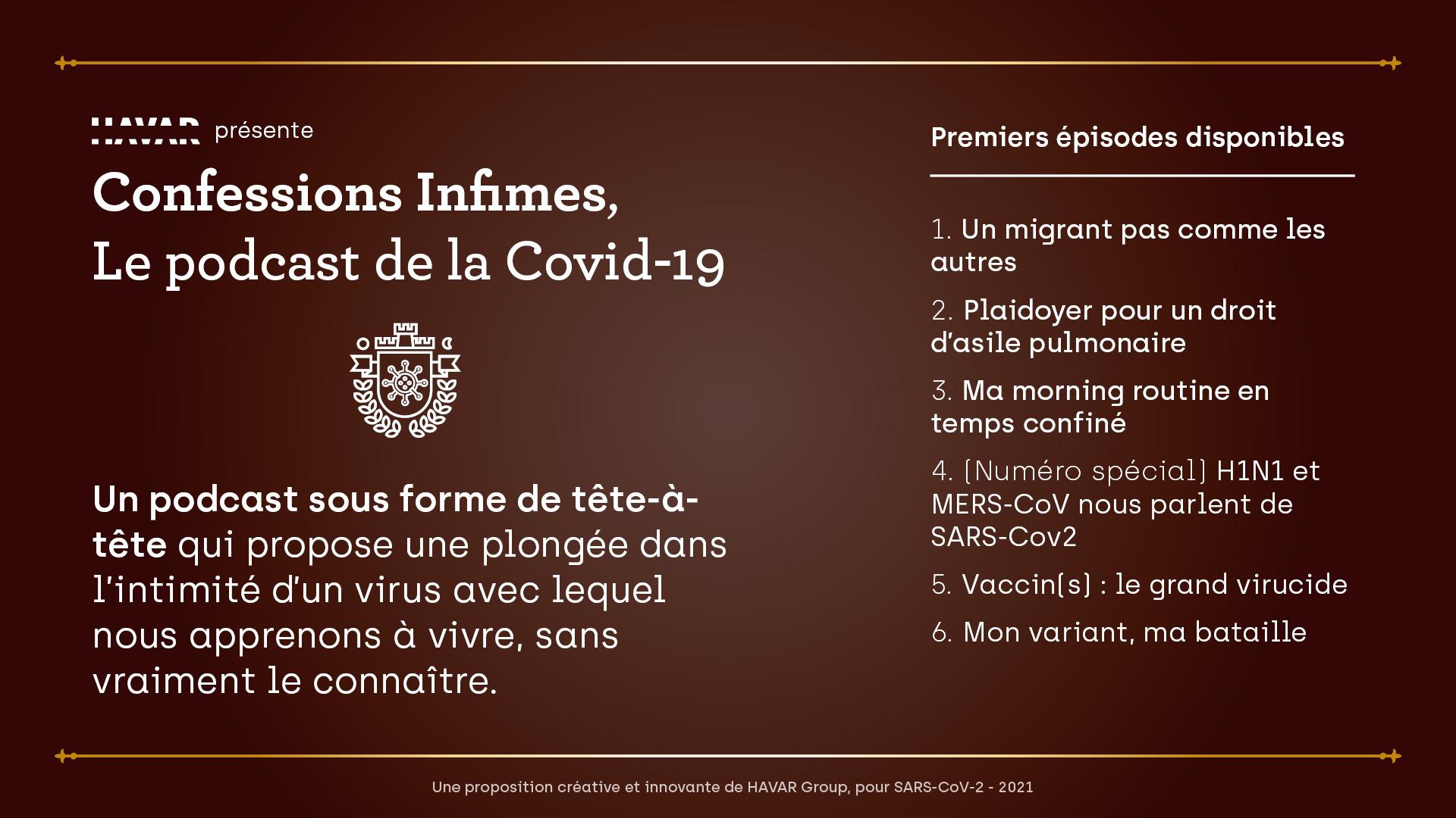 Confessions Infimes, le podcast de la Covid-19 - Présentation